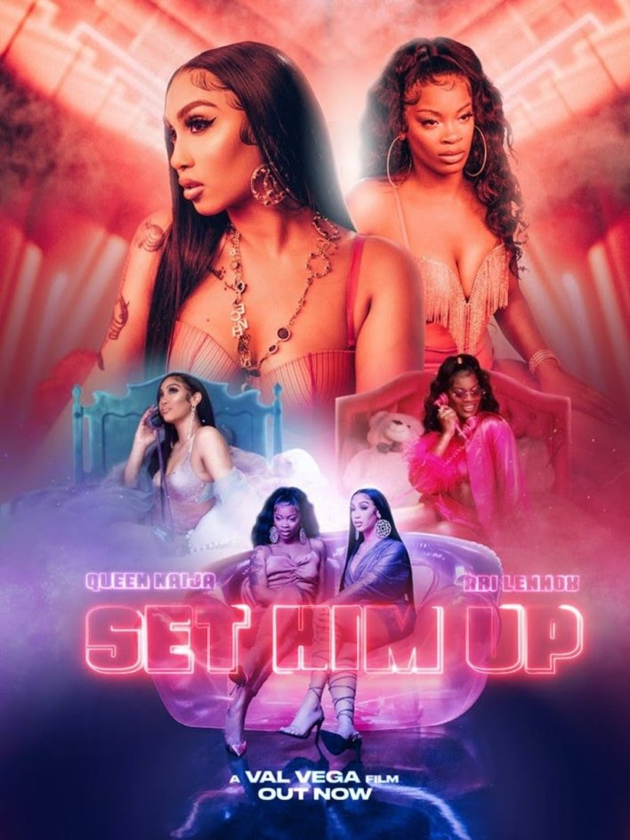 """WATCH QUEEN NAIJA AND ARI LENNOX IN CINEMATIC VISUAL FOR """"SET HIM UP"""""""