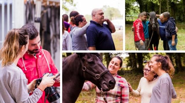 curso de coaching con caballos fotos grupales de alumnos