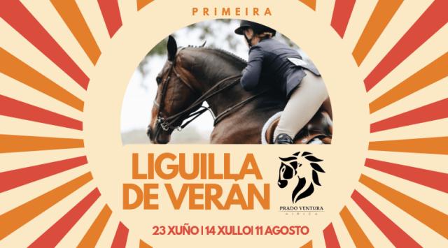 Primera Liguilla de salto de obstáculos a caballo durante el verano de 2019 realizada en Hípica Prado Ventura de As Pontes (A Coruña)
