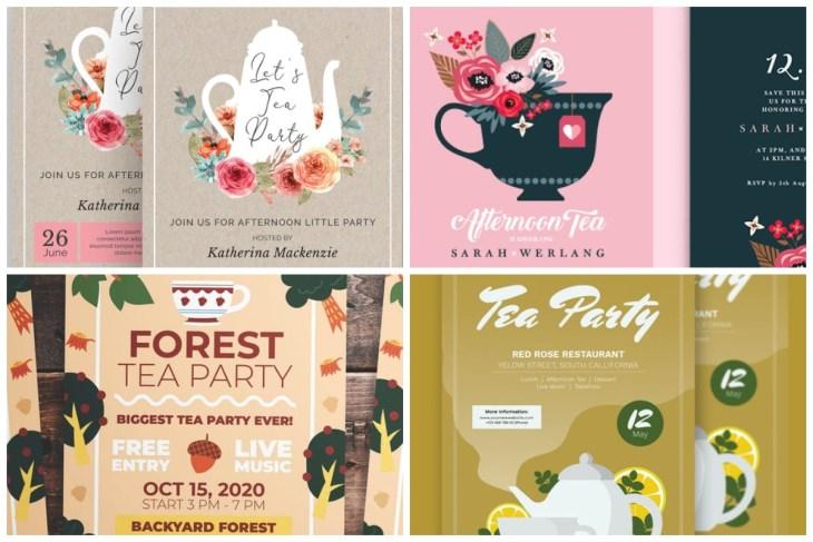 Tea Party Invitations cover-min