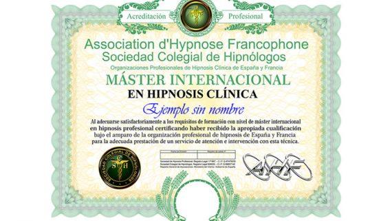 máster en hipnosis clínica