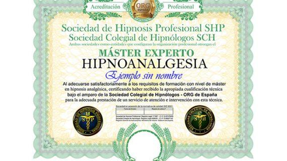 título máster en hipnoanalgesia