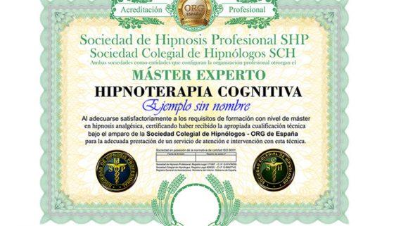 título máster en hipnosis cognitiva