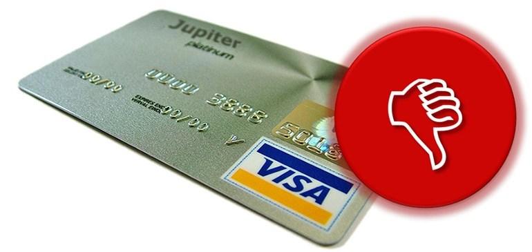 tarjetas de credito rechazadas