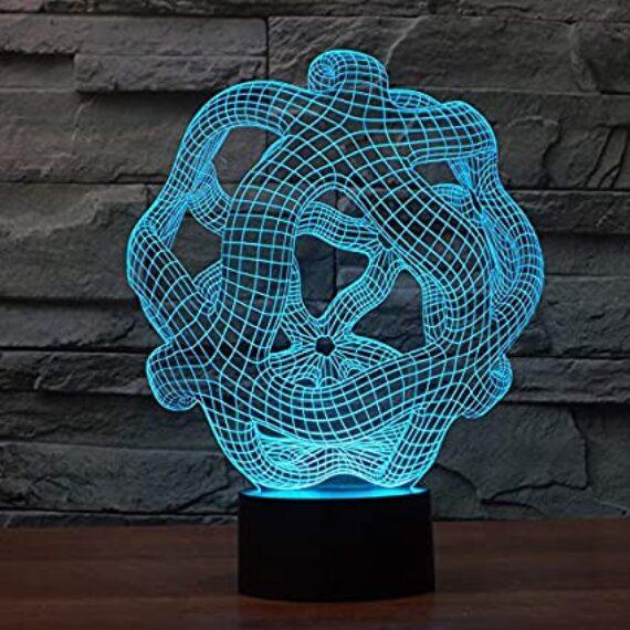 cerebro iluminado artístico
