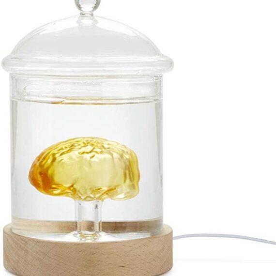 lámpara de mesa con cerebro