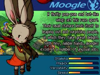 Moogle w Final Fantasy Tactics A2 Grimoire of the Rift