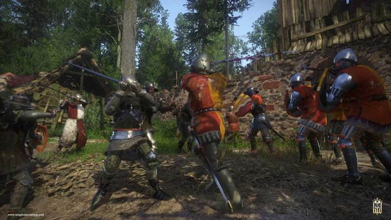 Walki rycerzy w grze video Kingdom Come: Deliverance