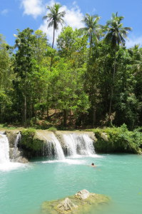 Cambugahay waterfalls in Siquijor