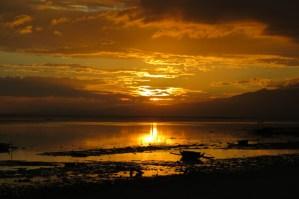 Zonsondergang op Siquijor Filipijnen
