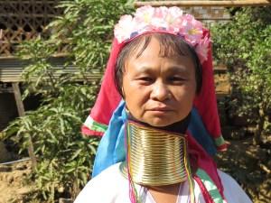 Longneck vrouw in Noord Thailand