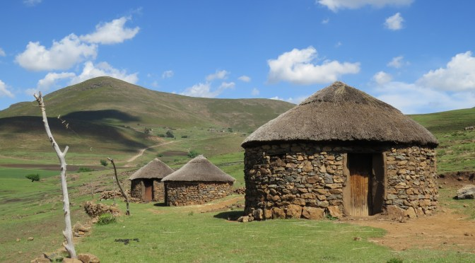 Rondavels in Lesotho
