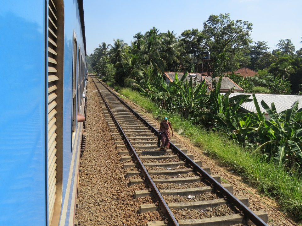 trein tussen Kandy en Ella Sri Lanka