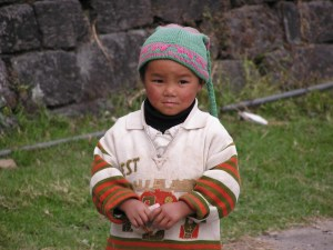 Ontwapenende kids in Sikkim