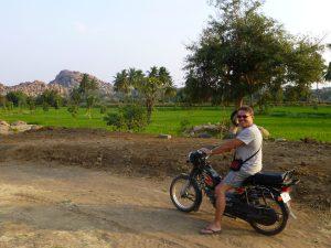 Scooter huren in Hampi India