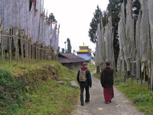 klooster monniken in Sikkim India