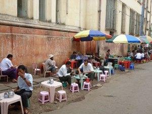 Streetfood in Yangon Myanmar
