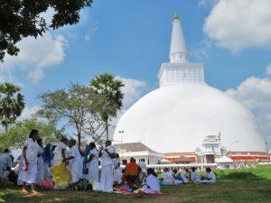 Pelgrims Anuradhapura Sri Lanka