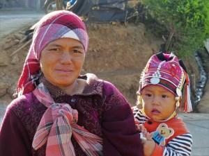 Stammen in Mae Salong Noord Thailand
