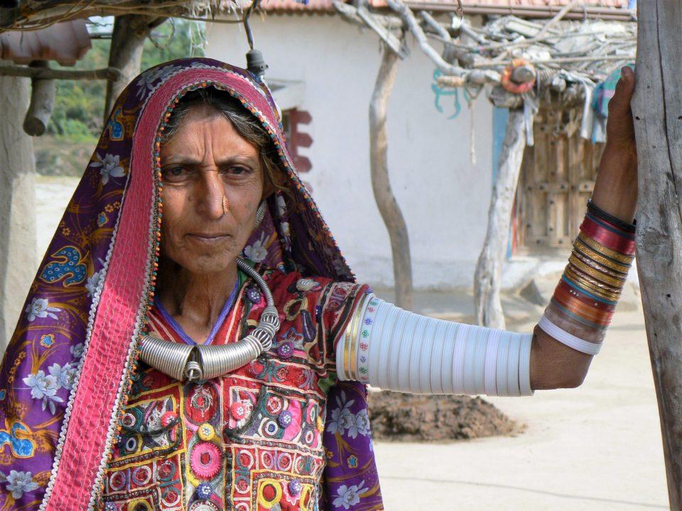 Harijan vrouw in Kutch Gujarat India