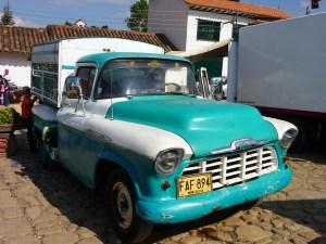 Oude auto's Villa de Leyva Colombia