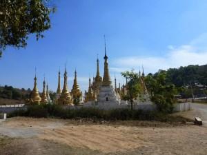 pagodas en tempels Kalaw Myanmar