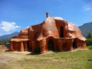 Terracotta huis Villa de Leyva Colombia