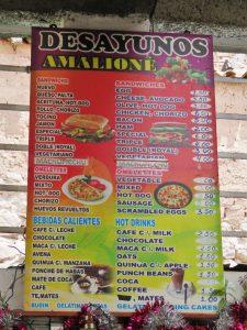 Foodmarket Cusco Peru