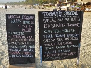 Eten in Palolem Goa India