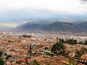 Uitzicht vanaf San Cristobal Church Cusco Peru