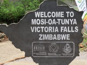 Entree bij Victoria Falls Zimbabwe