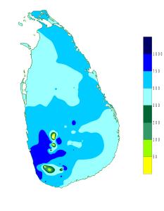 Tweede tussen monsoon Sri Lanka