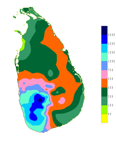 Zuidwest regentijd Sri Lanka