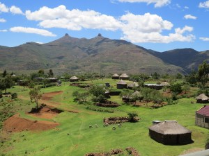Thabana li Mele breast mountains Lesotho