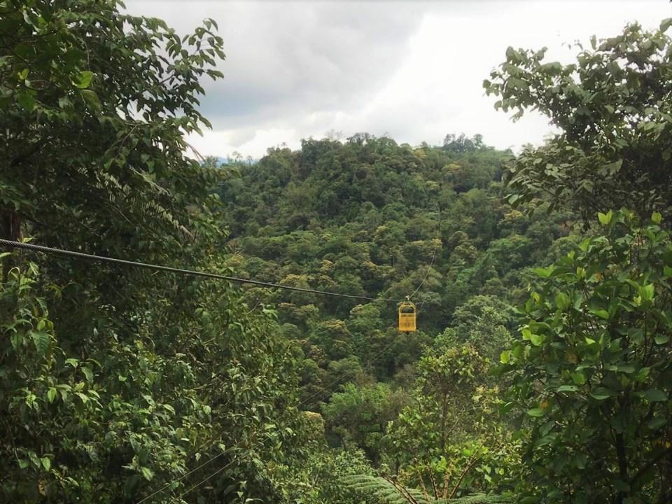 Kabelbaan Mindo Ecuador