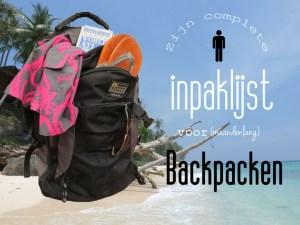 Inpaklijst backpacken voor hem