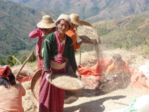 Lokale bevolking bij Kalaw Myanmar