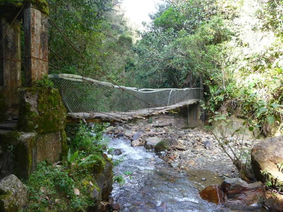 Rivier in Valle de Cocora