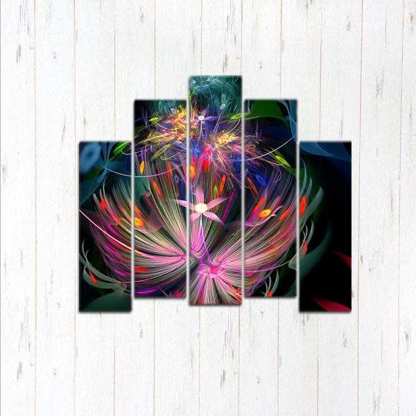 Модульная картина Космический цветок
