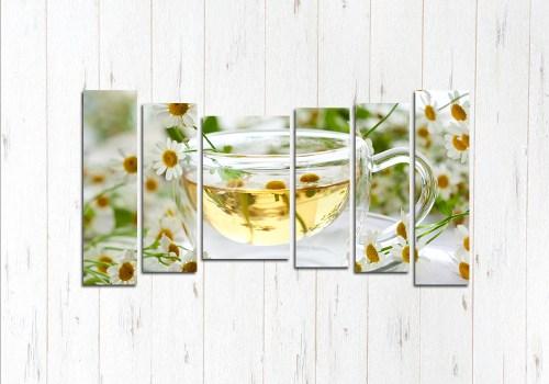 Модульная картина Чай из ромашки