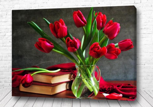 Постер Розы в вазе