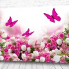 Постер Цветы и бабочки