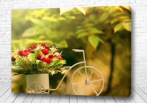 Постер Велосипед цветов