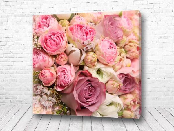 Постер Розы нежно розовые