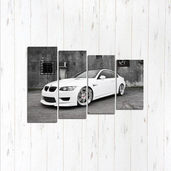 Модульная картина Белый стиль BMW