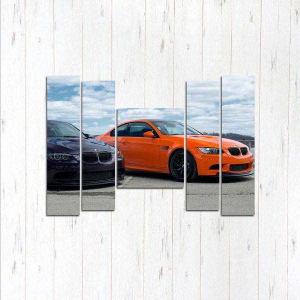 Модульная картина Две тройки BMW