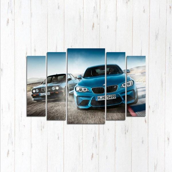 Модульная картина Битва поколений BMW