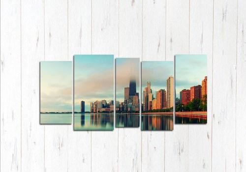 Модульная картина Рассвет Чикаго