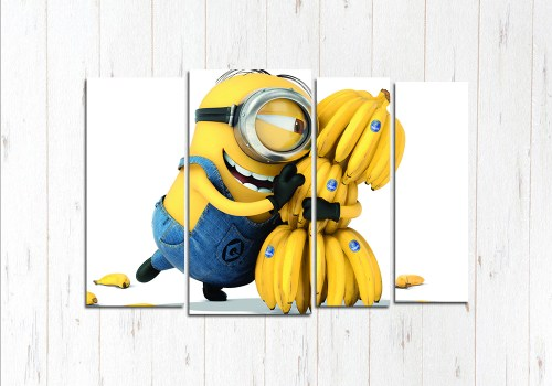 Модульная картина Миньон и бананы