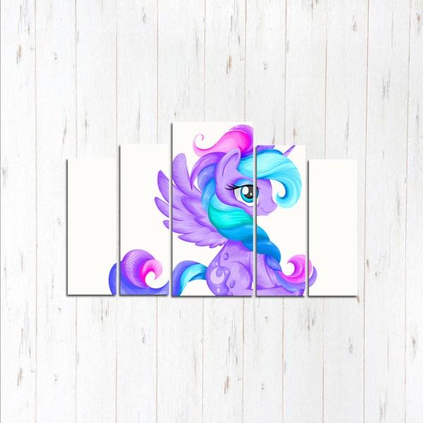 Модульная картина Фиолетовая пони